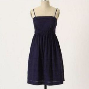 Anthropologie Maeve Height of Summer Navy Dress 6
